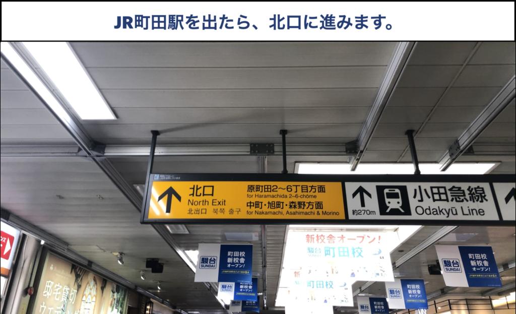JR町田からTCB町田院への行き方